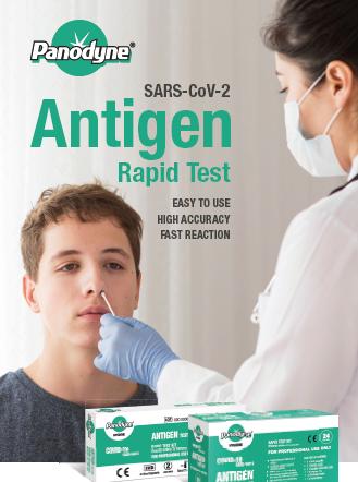 Panodyne Antigen Covid-19 Rapid test kits,(Pack of 12) £11.95 per test (EX VAT)