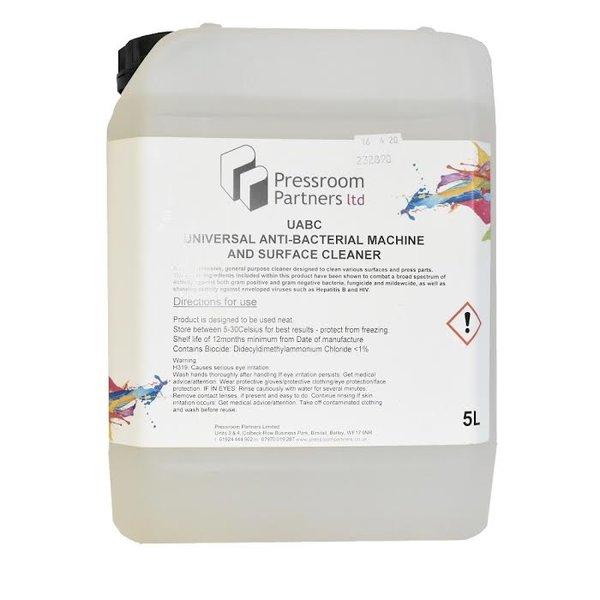 Universal Antibacterial Machine And Surface Cleaner 5 Litre - £22.50 (EX VAT)