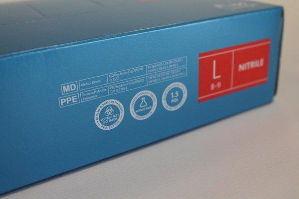 Anti Viral Nitrylex Classic Nitrile Powder Free Gloves L £8.05 per box 100 gloves (EX VAT)