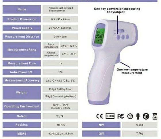 Hand Held Infrared Thermometer - £35.00 (EX VAT)