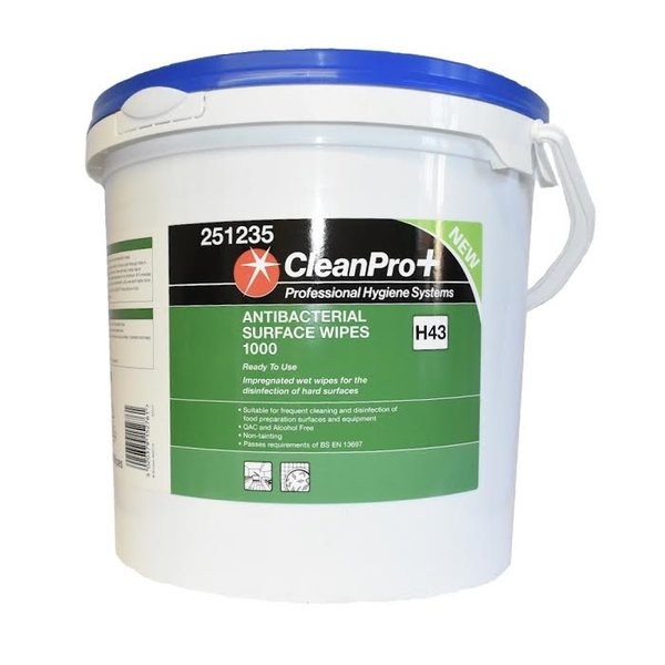 CleanPro+ Antibacterial Surface Wipes (1000) - £19.95 (EX VAT)