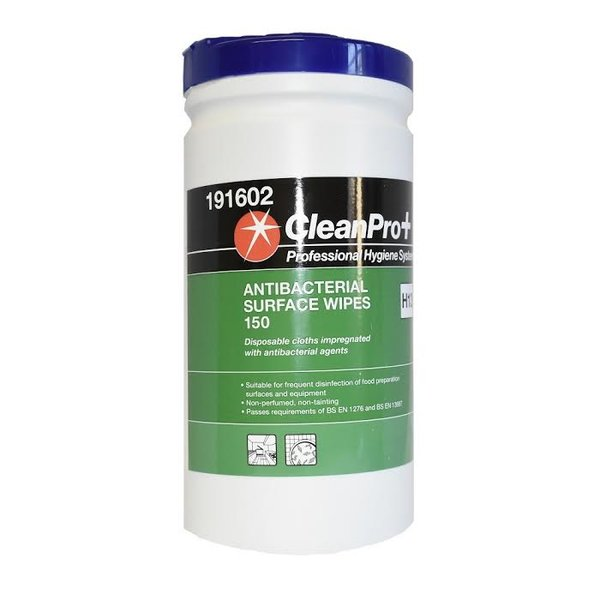 CleanPro+ Antibacterial Surface Wipes (150) - £5.95(EX VAT)