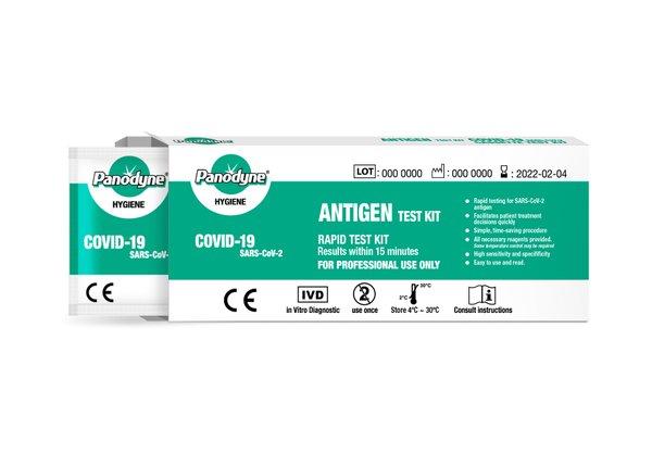 Panodyne Antigen Covid-19 Rapid test kits  2304 tests £3.65 per test  (EX VAT)