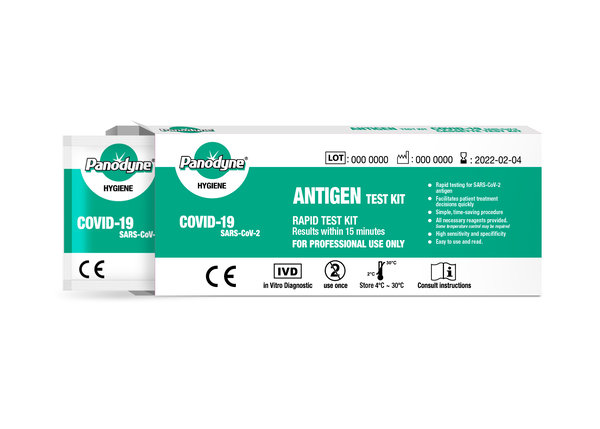 Panodyne Antigen Covid-19 Rapid Test Kits, (24 Tests per box)  £9.95 per test (EX VAT)