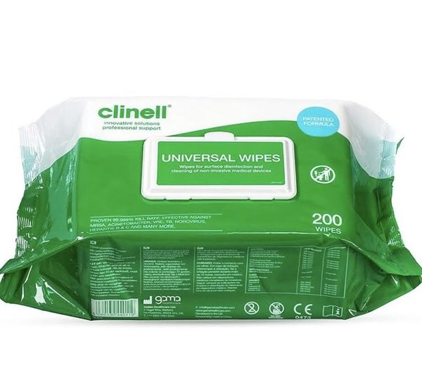 Universal Wipes (200) - £7.49 (EX VAT)
