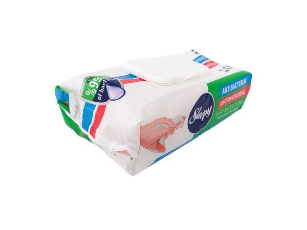 Sleepy Antibacterial Hand & Face Wet Wipes (70 per Pack) £1.33 per pack 70 Wipes (EX VAT)